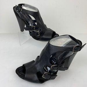 A. Marinelli Black Heels Buckles Sz 8.5